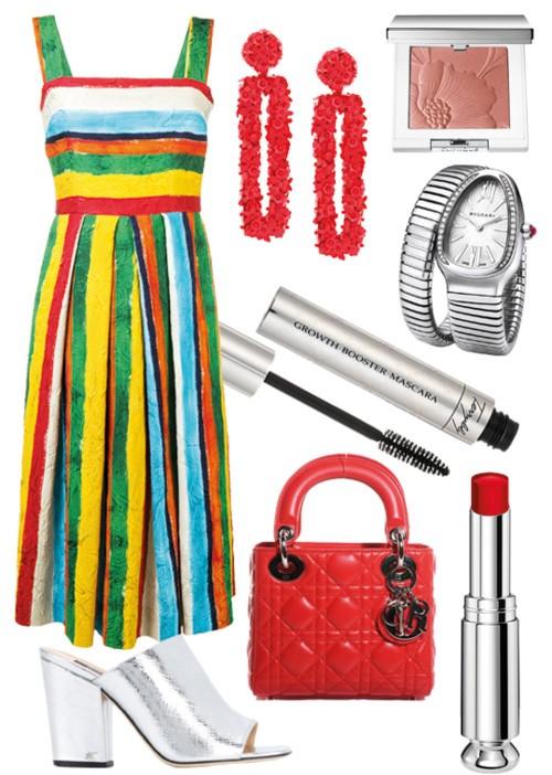 فستان بألوان قوس قزح في 3 إطلالات مختلفة!