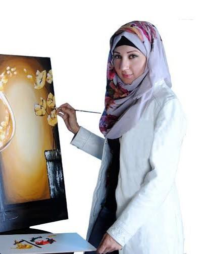 الفنانة الأردنية عبير العيسى ولغة البورتريه المعاصر
