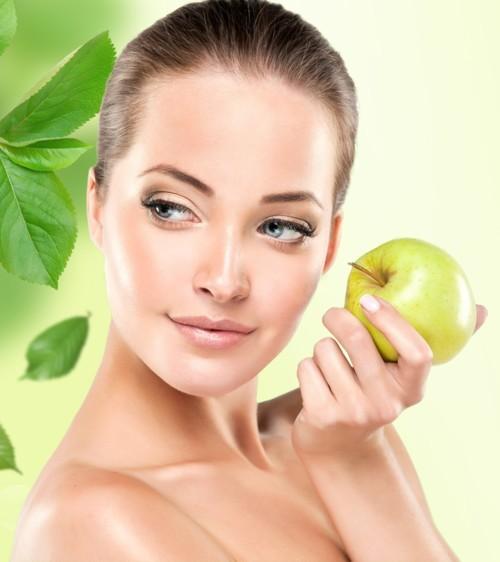 قناع التفاح لتبييض البشرة في عيد الحب
