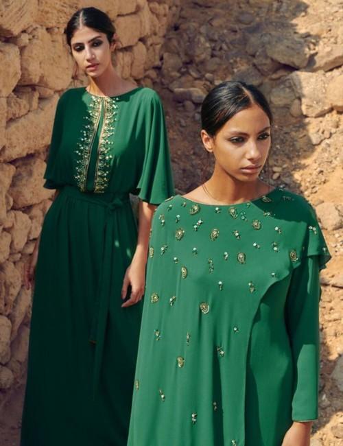 اختاري اللون الأخضر لعباءة رمضان