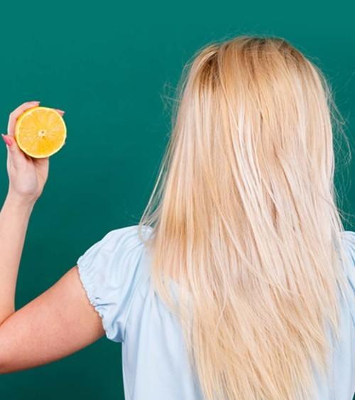 عصير الليمون لتفتيح الشعر قبل العيد