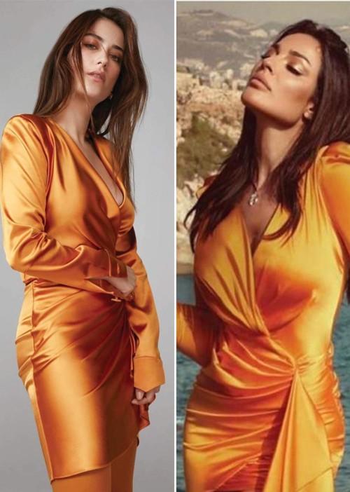 نادين نجيم تسرق فستان هازال كايا!