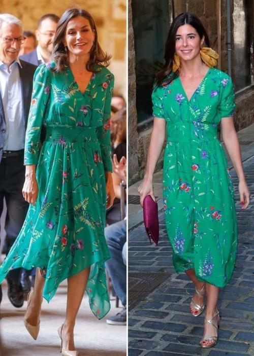 من الأجمل بفستان Maje المطبع بالأزهار؟