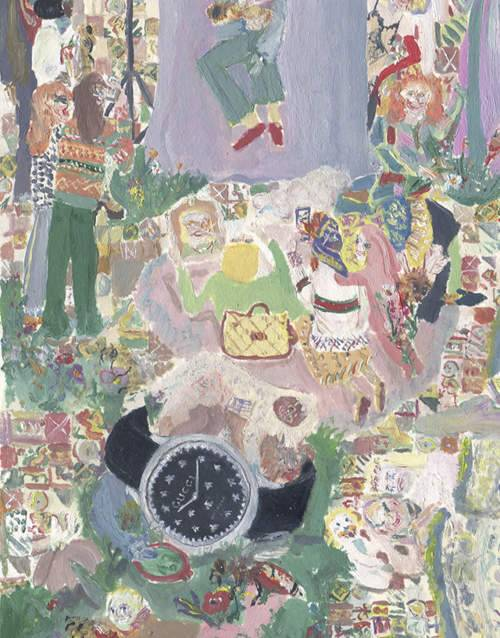 ثلاثة فنانين يعيدون ابتكار مفهوم الزمن لساعة G-Timeless من غوتشي