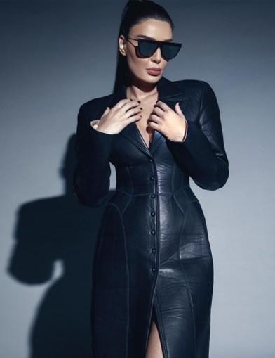 هكذا تألقت سيرين عبد النور بموضة أزياء الجلد