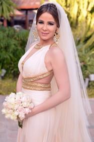 كارول سماحة أميرة في حفل زفافها