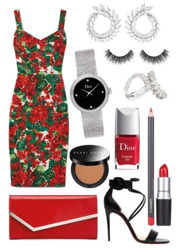 3 إطلالات بفساتين بنقشة الورود