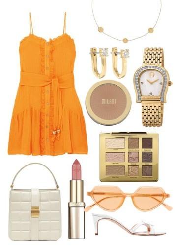 الفستان الصيفي البرتقالي بـ3 إطلالات