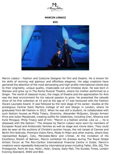 مارسين لوباكز: مصمم أزياء الأفلام والمسرح
