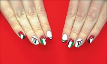أجمل طلاءات الأظافر بألوان العلم الإماراتي
