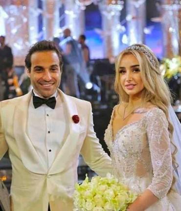 أولى اللقطات من زفاف هنا الزاهد ومحمد فهمي