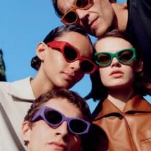 نظارة شمسية مُطعمة بالجلد من Salvatore Ferragamo