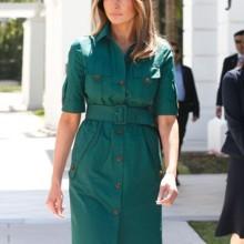 لن تصدقي كم مرّة اعتمدت ميلانيا ترامب اللون الأخضر!